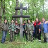 Камчатские казаки благоустроили территорию вокруг памятного креста