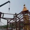 Установлена последняя ферма металлоконструкций будущего храма Святой Живоначальной Троицы в г. Елизово