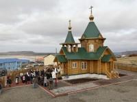 Освящение самого восточного православного храма России