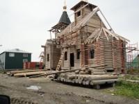 Строительство храма в  п. Озерная