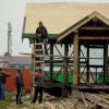 Продолжается возведение храма в п. Озерная