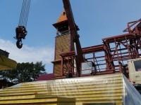 Начались работы по возведению стен восстанавливаемого храма Святой Живоначальной Троицы в Елизово