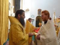 В неделю 12-ю по Пятидесятнице епископ Артемий совершил иерейскую и дьяконскую хиротонию
