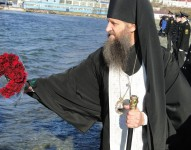 Епископ Артемий принял участие в торжественном митинге, посвященном Дню памяти моряков и рыбаков