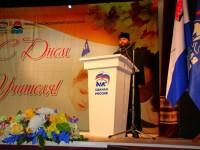 В зале Камчатского театра Драмы и Комедии состоялось торжественное собрание, посвященное международному дню учителя