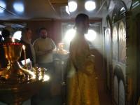 Праздничная Божественная литургия на корабле «Камчатка»