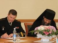 Подписание соглашения между Петропавловской и Камчатской епархией и Войсками и силами Северо-Востока.