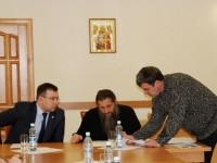 Рабочее совещание Епископа Артемия и Заместителя губернатора Камчатского края Войтова А.Ю.