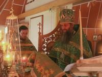 В день памяти прп. Сергия Радонежского Епископ Артемий совершил Божественную литургию в скиту мужского монастыря