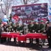В Петропавловске состоялась торжественная церемония заполнения землей гильз для последующей их передачи в Города воинской славы