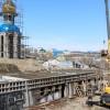 Строительные работы на территории кафедрального соборного комплекса продолжаются