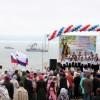 Торжества по случаю освящения нижнего храма  Камчатского морского собора.  Праздничный крестный ход. Концерт