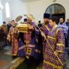Принесение св. мощей кн. Владимира в кафедральный собор. Всенощное бдение с выносом св. Креста