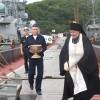 Иеромонах Илия (Петряков) благословил экипажи кораблей на несение боевого дежурства