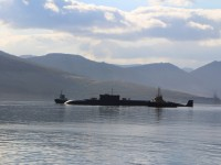 Архиепископ Петропавловский и Камчатский Артемий принял участие во встрече подводной лодки «Владимир Мономах»