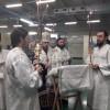 Великое освящение воды на заводе в Малках