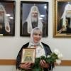 Архиепископ Артемий поздравил с 60-летием сотрудницу церковной лавки Лукогорскую В.А.