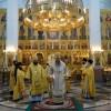 Соборное богослужение в Неделю всех святых Церкви Русския. Визит архиепископа Матфея.