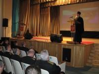 Протоиерей Алексий Апатов принял участие в торжественном собрании ко Дню защитника Отечества в войсковой части п. Рыбачий