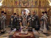В среду первой седмицы Великого поста архиепископ Феодор совершил Литургию Преждеосвященных Даров
