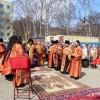 Молебен на месте строительства храма святой блаженной Матроны Московской