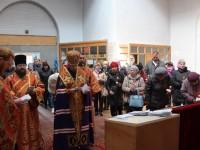 Панихида в День Радоницы в часовне Александра Невского на городском кладбище