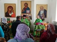 Первая Божественная литургия в храме-часовне преподобного Серафима Саровского