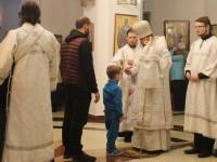 В канун праздника Преображения Господня Архиепископ Феодор совершил всенощное бдение в Морском соборе