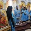 Первая Божественная литургия в верхнем храме Морского собора
