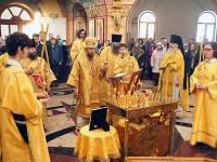 Архиепископ Феодор совершил Божественную литургию и панихиду в годовщину преставления архимандрита Наума ко Господу