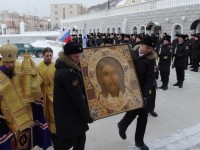 Молебен перед образом Спаса Нерукотворного — главной иконой Вооруженных сил Российской Федерации