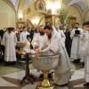 В праздник Крещения Господня правящий архиерей совершил Литургию и чин Великого освящения воды в Кафедральном соборе