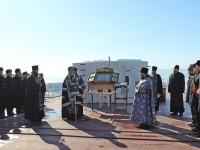 Перед главной иконой ВМФ России был отслужен молебен в Отряде пограничных сторожевых кораблей