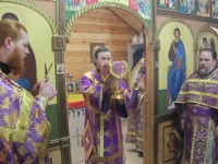 В Неделю 4-ю Великого поста Управляющий епархией совершил Литургию в храме святителя и врача Луки Крымского