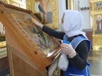 В храмах Епархии соблюдаются все санитарные нормы