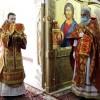 В день прославления сщмч. Гермогена, Патриарха Московского, Архиепископ Феодор совершил Литургию в Морском соборе