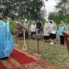 Литургия на месте строительства храма в п. Раздольный