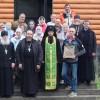 Молебен в строящемся храме с. Мильково