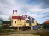Продолжается строительство храма в честь Новомучеников и исповедников Российских в с. Каменское Пенжинского района