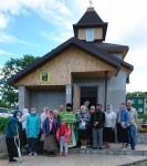 В строящемся храме-часовне в честь преподобного Серафима Саровского молитвенно почтили память святого