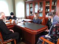 Состоялась встреча Правящего архиерея с руководителем направления помощи бездомным Синодального отдела по благотворительности