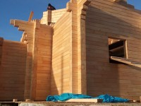 Продолжается строительство храма в честь иконы Божией Матери «Казанская» в поселке Соболево
