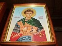 Икона с частицей мощей вмч. Димитрия Солунского в Кафедральном соборе