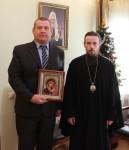 Архиепископ Феодор поздравил Сергея Потапова, избранного на должность Главы Вилючинского городского округа
