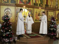 В праздник Рождества Христова Архиепископ Феодор совершил Божественную литургию в Кафедральном соборе