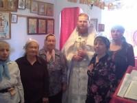 Руководитель миссионерского отдела епархии совершил Литургию в храме с. Шаромы Мильковского района