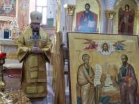 Литургия в праздник святых первоверховных апостолов Петра и Павла