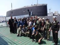 Воспитанники патриотического лагеря «Пересвет» посетили воинские части подводных сил и морской авиации ТОФ