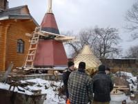 Продолжается строительство храма в селе Соболево