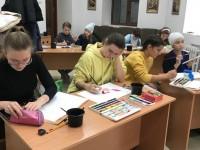 Епархиальный отдел религиозного образования организовал мастер-класс по рисованию акварелью для учащихся воскресных школ